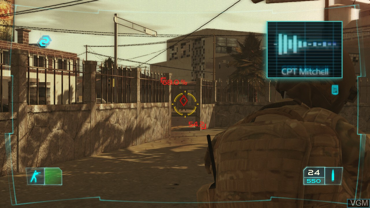 Image in-game du jeu Tom Clancy's Ghost Recon Advanced Warfighter sur Microsoft Xbox 360