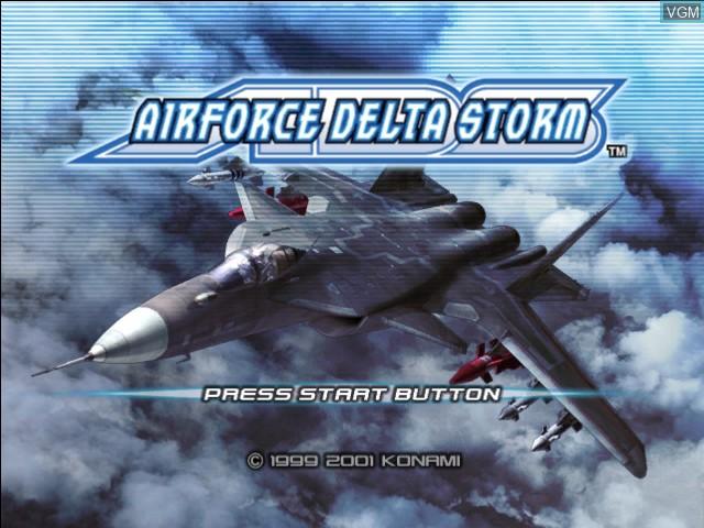 Image de l'ecran titre du jeu AirForce Delta Storm sur Microsoft Xbox