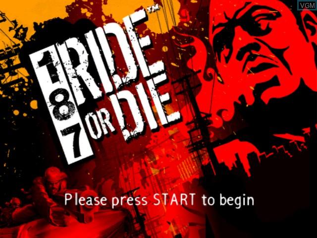 Image de l'ecran titre du jeu 187 Ride or Die sur Microsoft Xbox