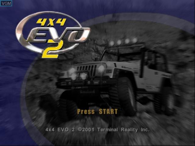 Image de l'ecran titre du jeu 4x4 EVO 2 sur Microsoft Xbox