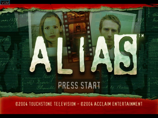 Image de l'ecran titre du jeu Alias sur Microsoft Xbox