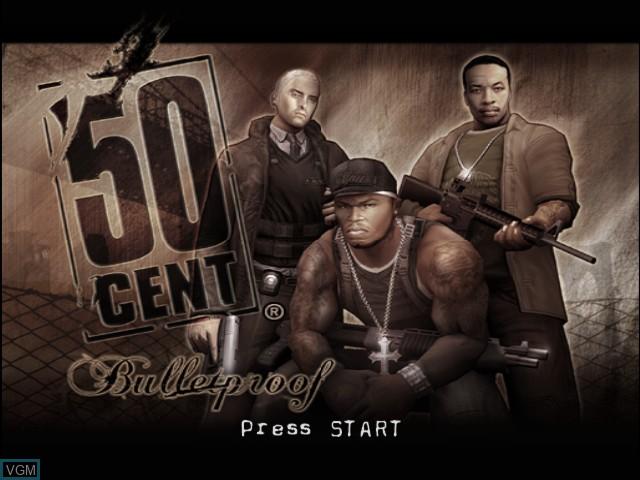 Image de l'ecran titre du jeu 50 Cent - Bulletproof sur Microsoft Xbox