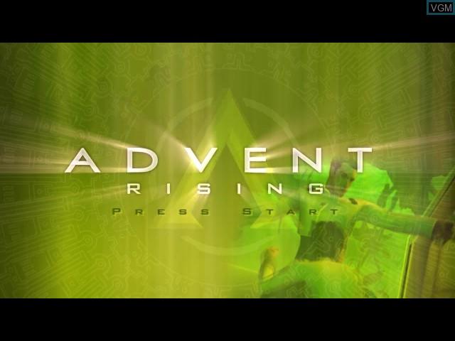 Image de l'ecran titre du jeu Advent Rising sur Microsoft Xbox