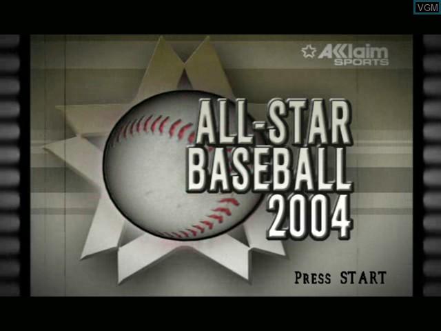 Image de l'ecran titre du jeu All-Star Baseball 2004 sur Microsoft Xbox
