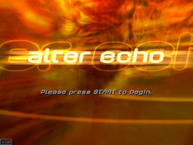 Image de l'ecran titre du jeu Alter Echo sur Microsoft Xbox