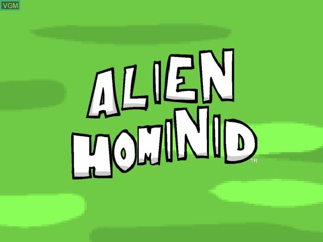 Image de l'ecran titre du jeu Alien Hominid sur Microsoft Xbox