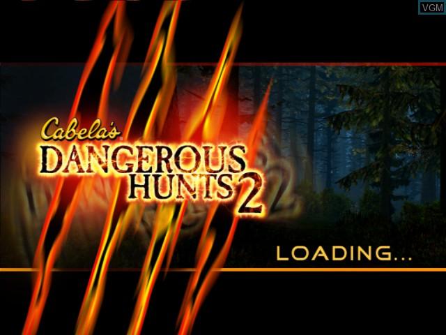 Image de l'ecran titre du jeu Cabela's Dangerous Hunts 2 sur Microsoft Xbox