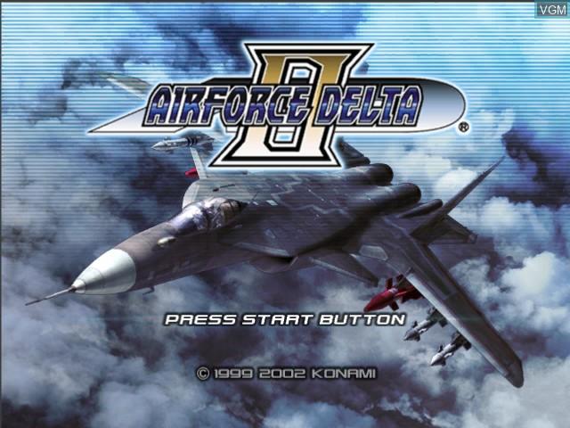 Image de l'ecran titre du jeu AirForce Delta II sur Microsoft Xbox
