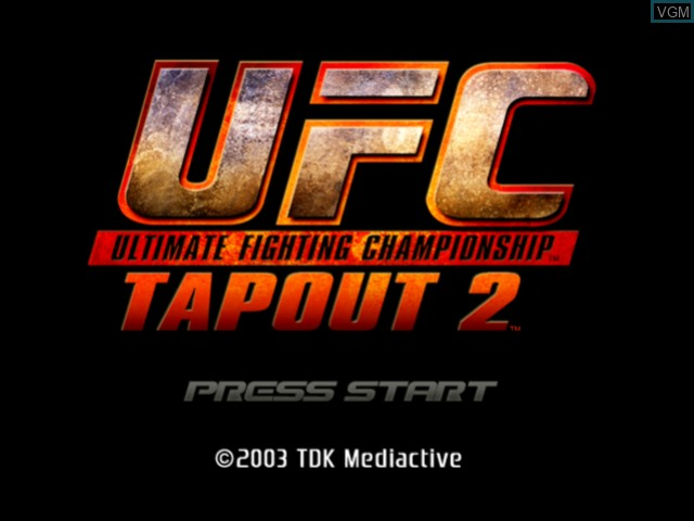 Image de l'ecran titre du jeu UFC - Tapout 2 sur Microsoft Xbox