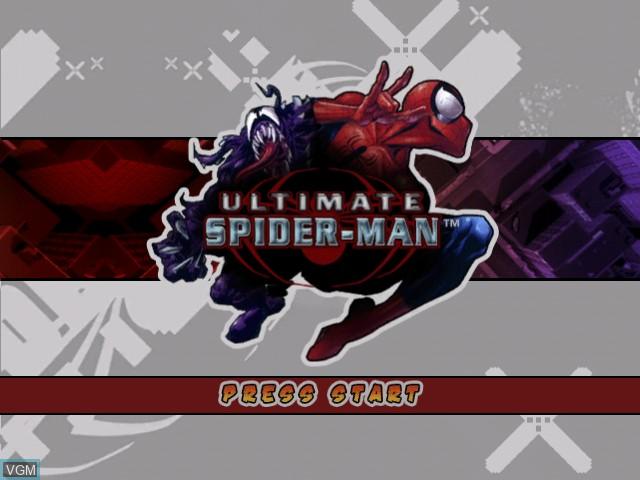 Image de l'ecran titre du jeu Ultimate Spider-Man sur Microsoft Xbox