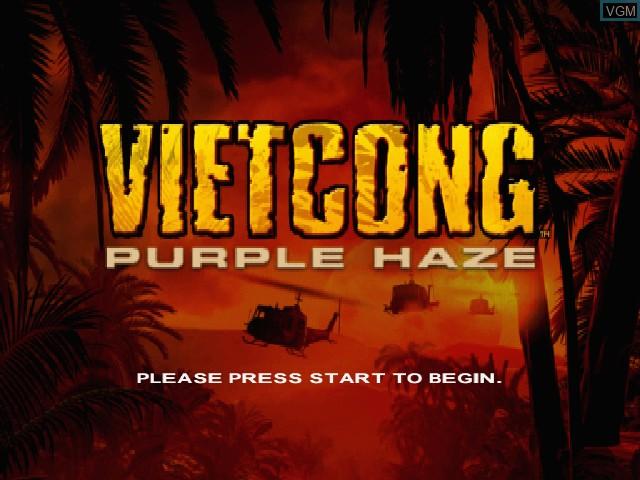 Image de l'ecran titre du jeu Vietcong - Purple Haze sur Microsoft Xbox