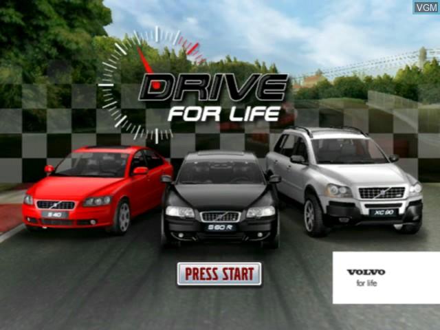 Image de l'ecran titre du jeu Volvo - Drive for Life sur Microsoft Xbox