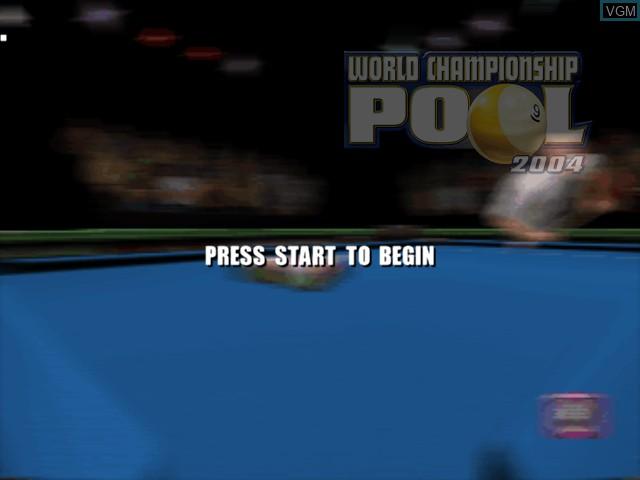 Image de l'ecran titre du jeu World Championship Pool 2004 sur Microsoft Xbox