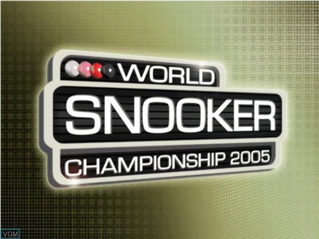 Image de l'ecran titre du jeu World Snooker Championship 2005 sur Microsoft Xbox