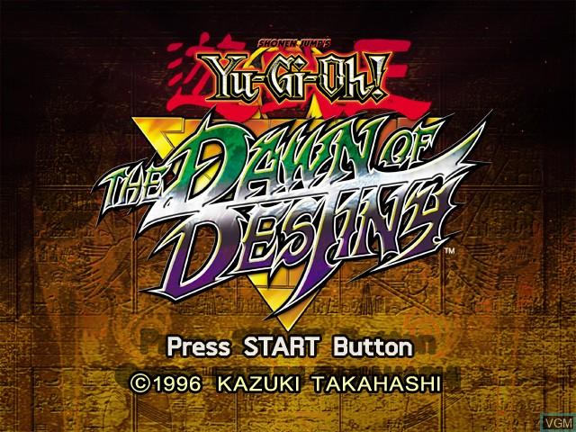 Image de l'ecran titre du jeu Yu-Gi-Oh! The Dawn of Destiny sur Microsoft Xbox