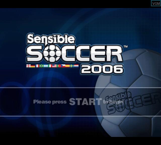 Image de l'ecran titre du jeu Sensible Soccer 2006 sur Microsoft Xbox