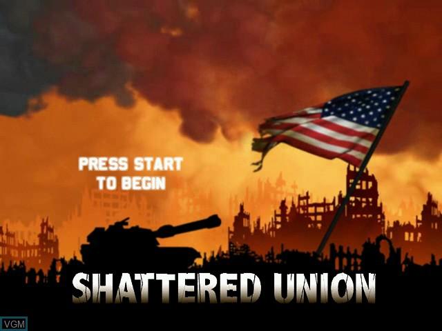 Image de l'ecran titre du jeu Shattered Union sur Microsoft Xbox