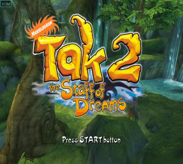 Image de l'ecran titre du jeu Tak 2 - The Staff of Dreams sur Microsoft Xbox