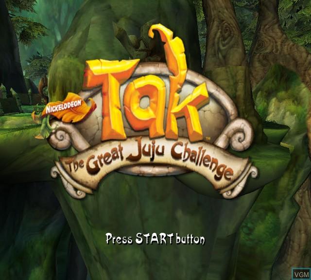 Image de l'ecran titre du jeu Tak - The Great Juju Challenge sur Microsoft Xbox