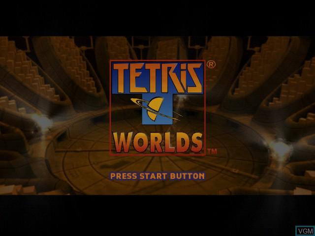 Image de l'ecran titre du jeu Tetris Worlds sur Microsoft Xbox
