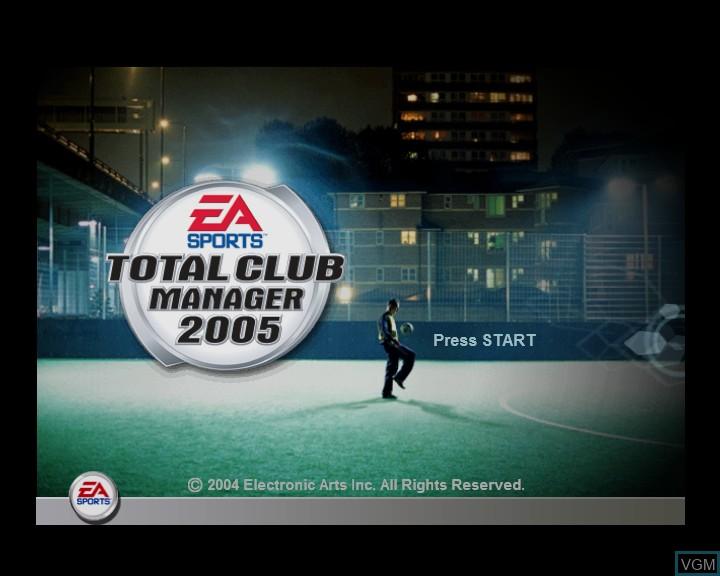 Image de l'ecran titre du jeu Total Club Manager 2005 sur Microsoft Xbox