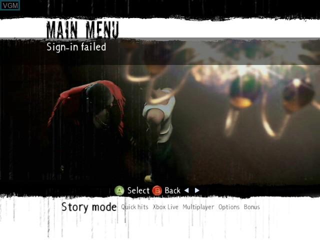 Image du menu du jeu 187 Ride or Die sur Microsoft Xbox