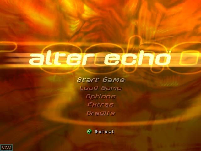 Image du menu du jeu Alter Echo sur Microsoft Xbox