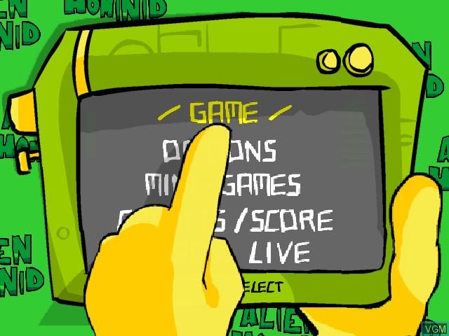Image du menu du jeu Alien Hominid sur Microsoft Xbox