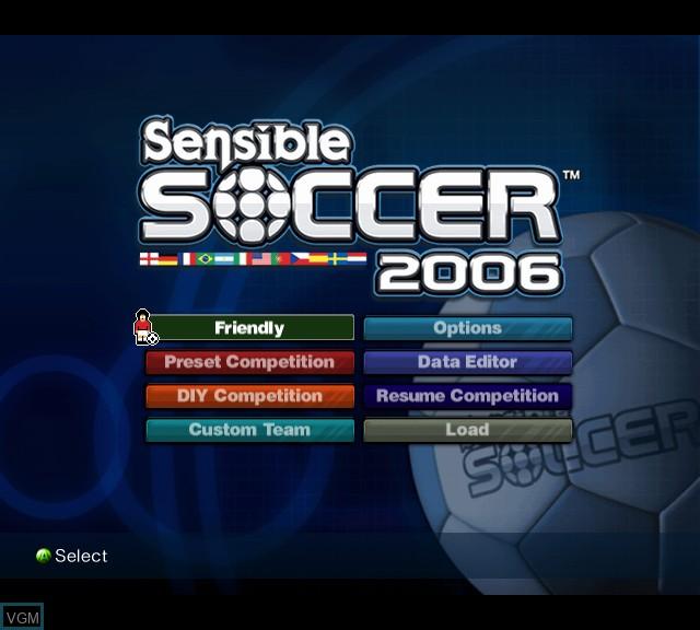 Image du menu du jeu Sensible Soccer 2006 sur Microsoft Xbox