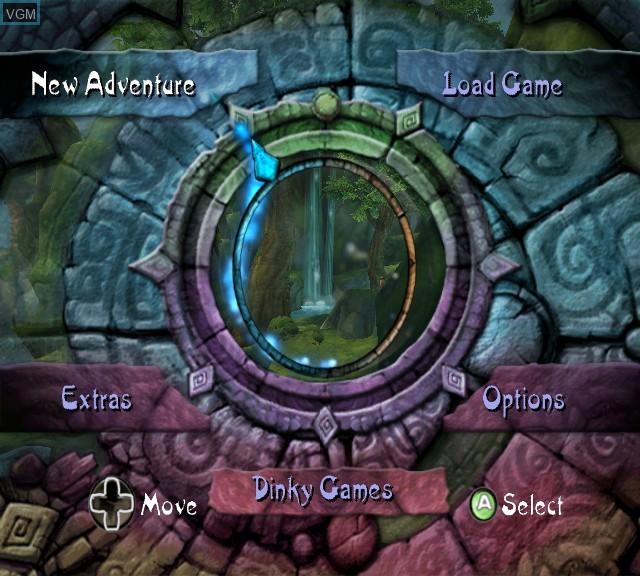 Image du menu du jeu Tak 2 - The Staff of Dreams sur Microsoft Xbox