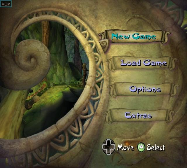 Image du menu du jeu Tak - The Great Juju Challenge sur Microsoft Xbox