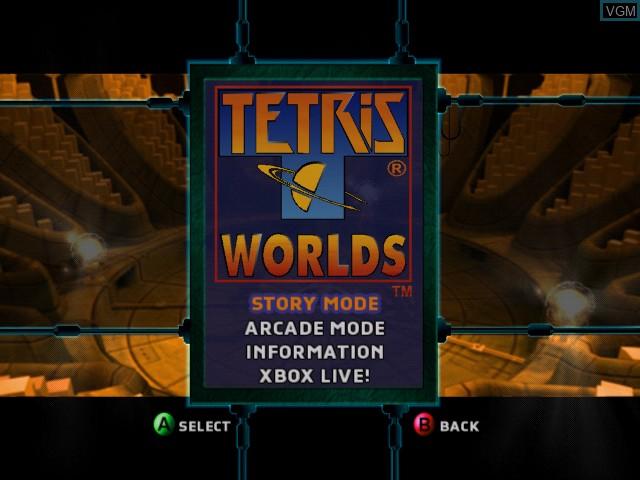 Image du menu du jeu Tetris Worlds sur Microsoft Xbox