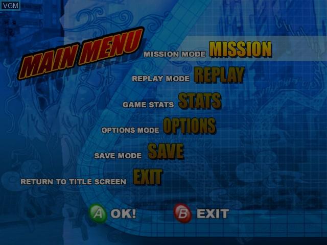 Image du menu du jeu Wreckless - The Yakuza Missions sur Microsoft Xbox