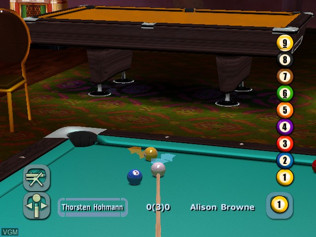 Image in-game du jeu World Championship Pool 2004 sur Microsoft Xbox