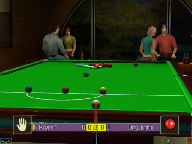 Image in-game du jeu World Snooker Championship 2005 sur Microsoft Xbox