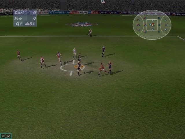 Image in-game du jeu AFL Live 2003 sur Microsoft Xbox