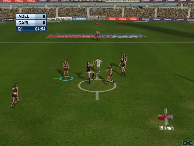 Image in-game du jeu AFL Live 2004 sur Microsoft Xbox