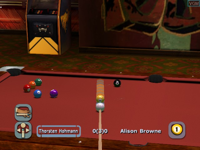 Image in-game du jeu World Championship Pool 2004 sur Microsoft Xbox