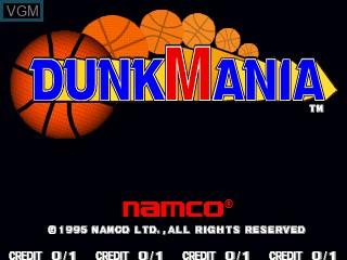 Image de l'ecran titre du jeu Dunk Mania sur Zinc