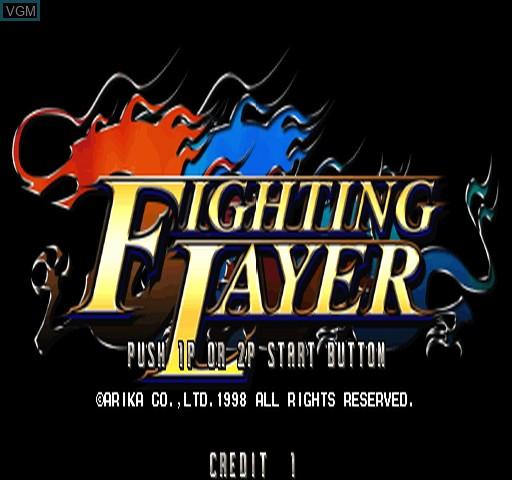 Image de l'ecran titre du jeu Fighting Layer sur Zinc