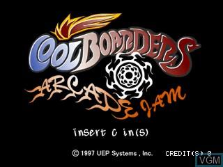 Image de l'ecran titre du jeu Cool Boarders Arcade Jam sur Zinc