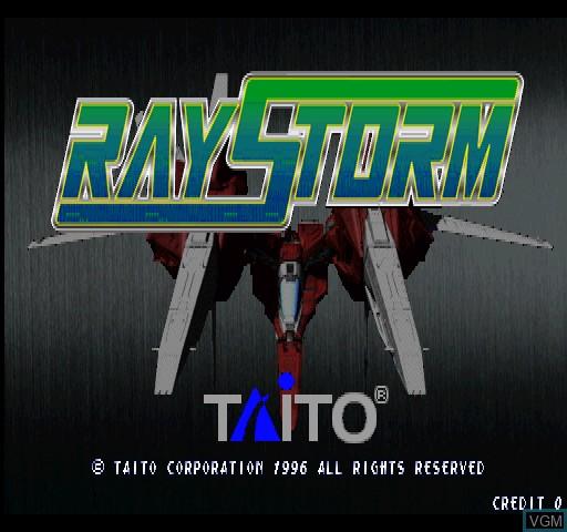 Image de l'ecran titre du jeu Raystorm sur Zinc