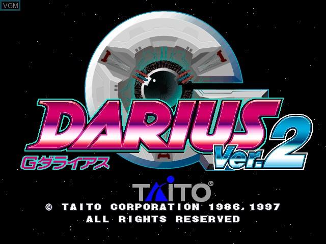 Image de l'ecran titre du jeu G-Darius Ver.2 sur Zinc
