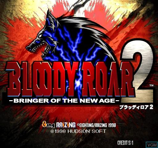 Image de l'ecran titre du jeu Bloody Roar 2 sur Zinc