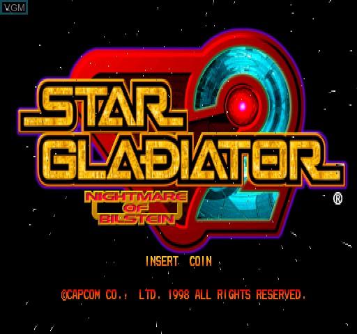 Image de l'ecran titre du jeu Star Gladiator 2 - Nightmare of Bilstein sur Zinc