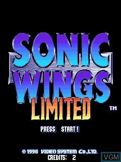 Image de l'ecran titre du jeu Sonic Wings Limited sur Zinc