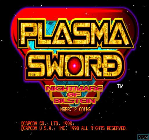 Image de l'ecran titre du jeu Plasma Sword sur Zinc
