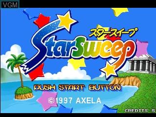 Image de l'ecran titre du jeu Star Sweep sur Zinc