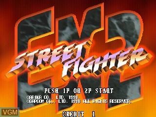 Image de l'ecran titre du jeu Street Fighter EX 2 sur Zinc