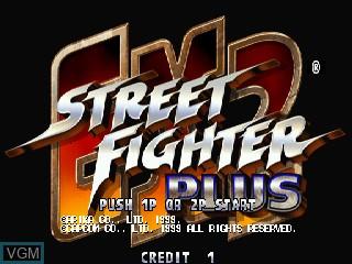 Image de l'ecran titre du jeu Street Fighter EX 2 Plus sur Zinc